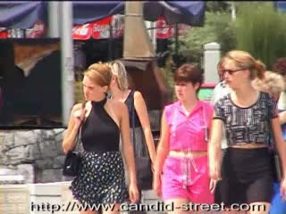 Candid shaking tits on the street