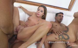Incredible double anal penetration