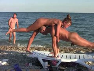 Nude nudists beach aerobic