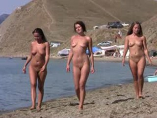 Three nudists girlfriends